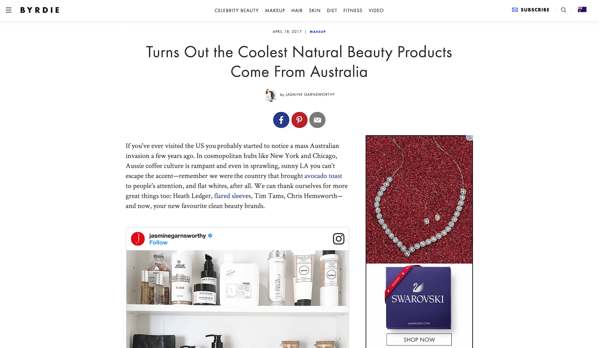 Byrdie.com – Turns out the coolest natural beauty products come from Australia